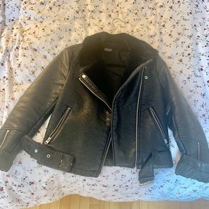 TopShop Leather Jacket - Size US 2